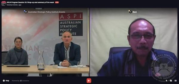 Hari Terakhir KKLN Mahasiswa SPS Unhan RI dan Australian Strategic Policy Institute (ASPI) bahas Kebijakan Pemerintah Australia dalam Komunikasi Internasional