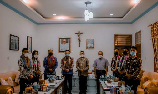 Dekan Fakultas Vokasi Universitas Pertahanan RI Melakukan  Kunjungan Ke Keuskupan Atambua, di Belu Jalin Kerjasama dalam Praktek Lapangan Kadet Mahasiswa Vokasi Unhan RI