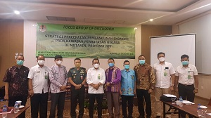 Dekan Fakutas Vokasi Unhan RI Sebagai Narasumber Pada Acara Focus Group Discussion (FGD) Pusat Kajian Kemen LHK RI
