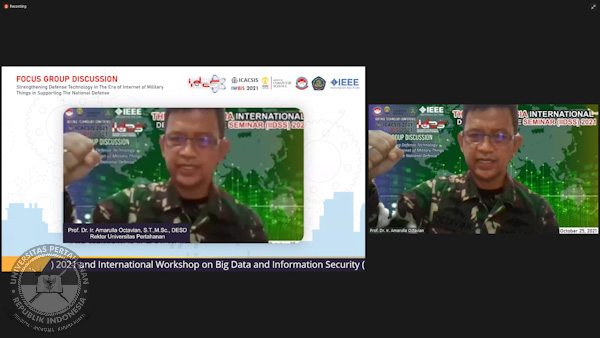 Rektor Universitas Pertahanan RI : Internet Of Things (IoT) Mengubah Peperangan Modern